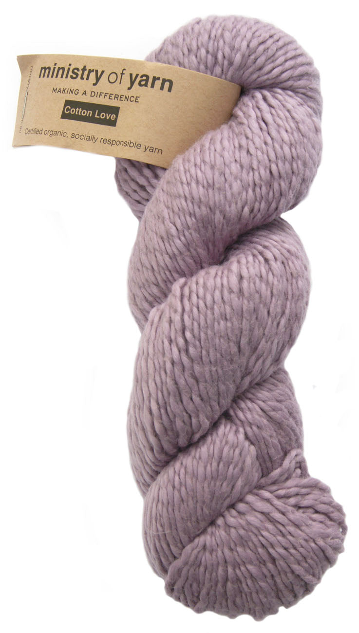 Organic Cotton Fair Trade Peruvian Lilac Purple Ministry of Yarn