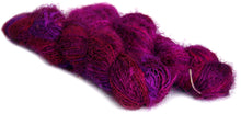 Purple recycled spun silk sari yarn Australia