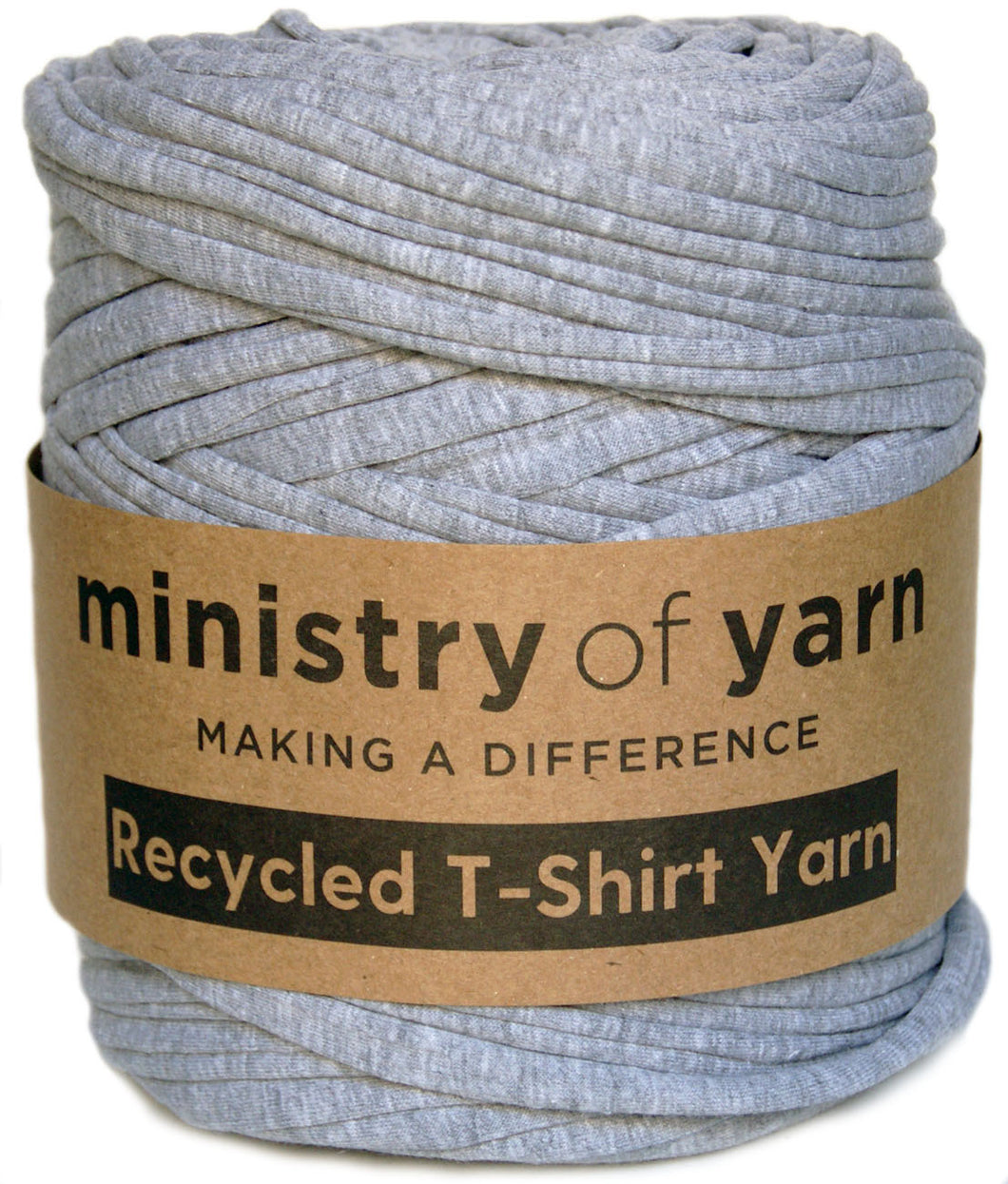 Grey marl recycled t-shirt yarn Australia