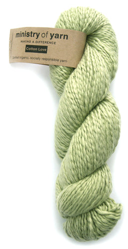 Organic Fair Trade Cotton Love DK Yarn - Sage