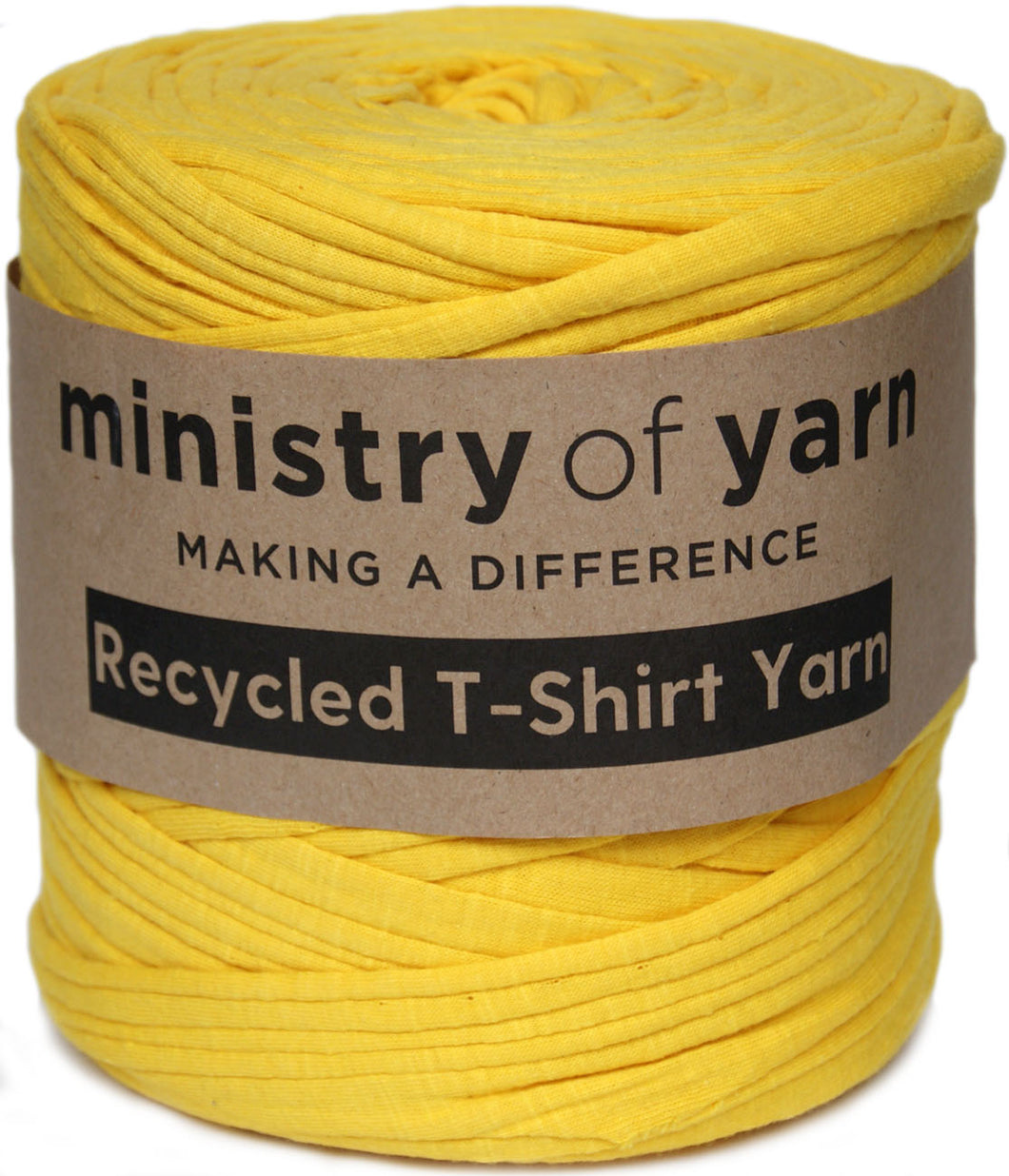 Textured Bright Yellow T-shirt Yarn
