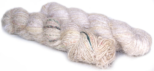 Pale recycled spun silk sari yarn Australia
