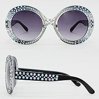 Rounds Crystal Sunglasses
