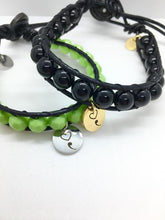 Load image into Gallery viewer, Black Mental Health bracelet with a semicolon