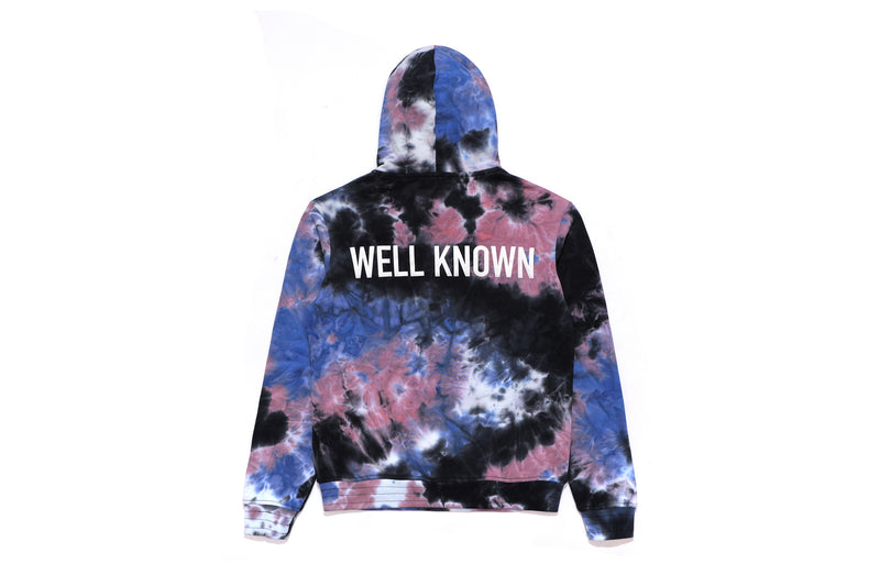 Well Known Studios Houston Hoodie - Indigo Tie Dye