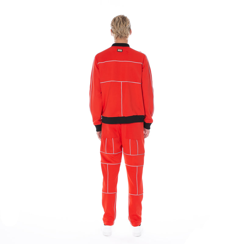 Well Known Studios Maiden Track Jacket - Red