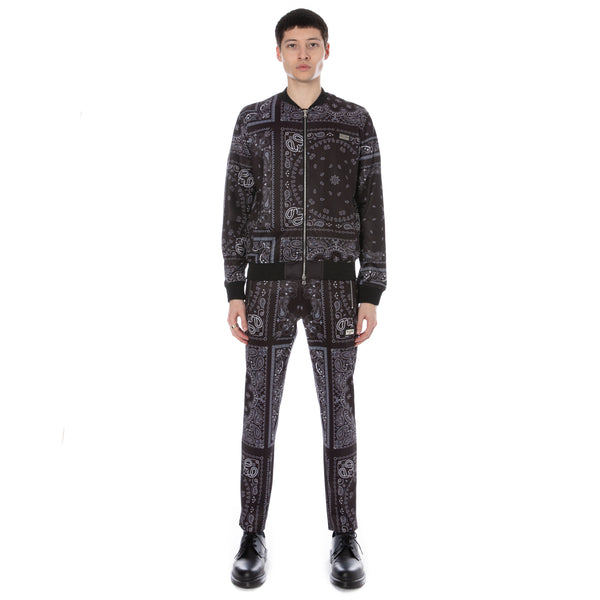 Well Known Studios Gramercy Track Jacket - Black Paisley