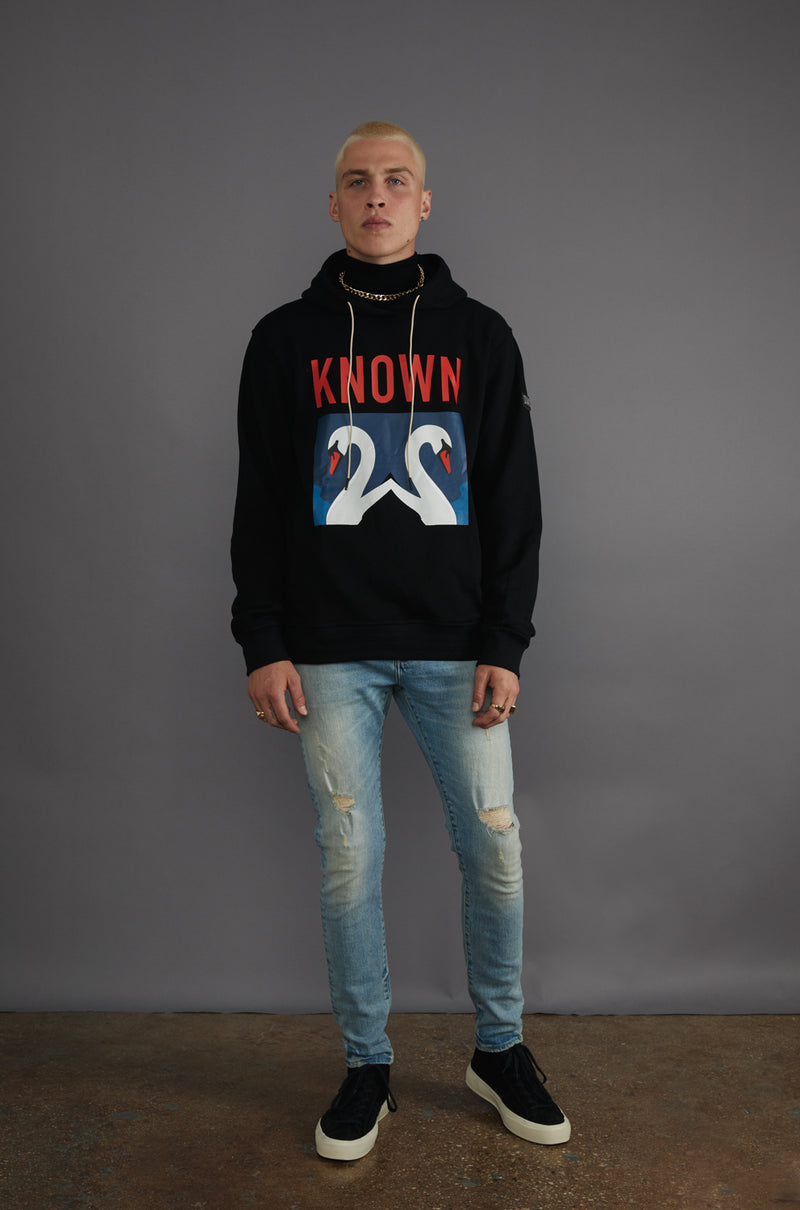 WELL KNOWN The Known Swan Hoody - Black