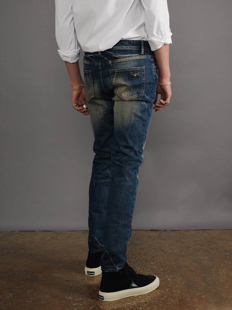 WELL KNOWN The Dean Street Jean - Dark Vintage