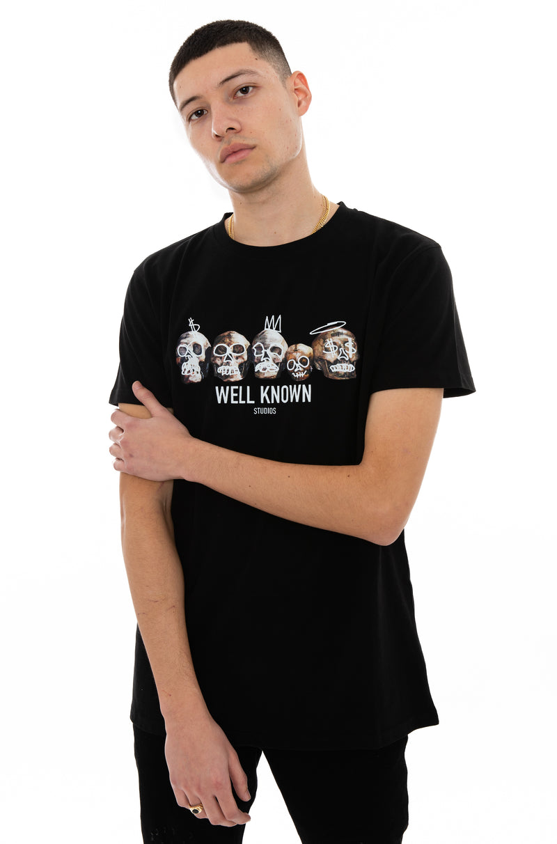 WELL KNOWN The Cranium Tee - Black