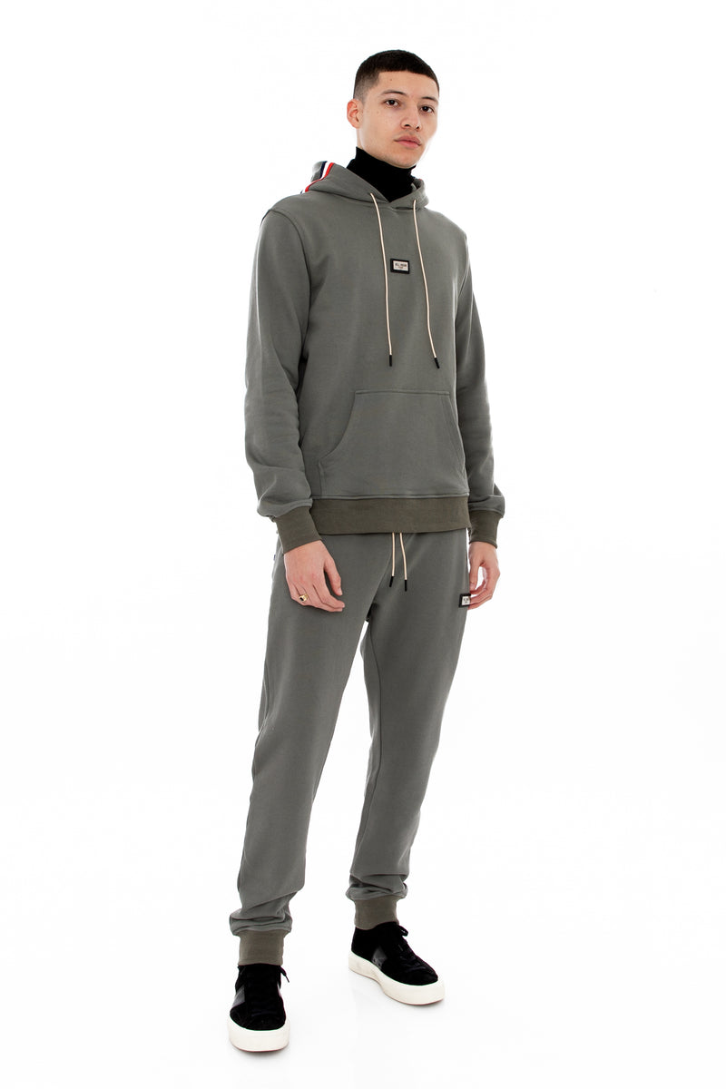 WELL KNOWN The Bowery Hoody - Grey Flannel