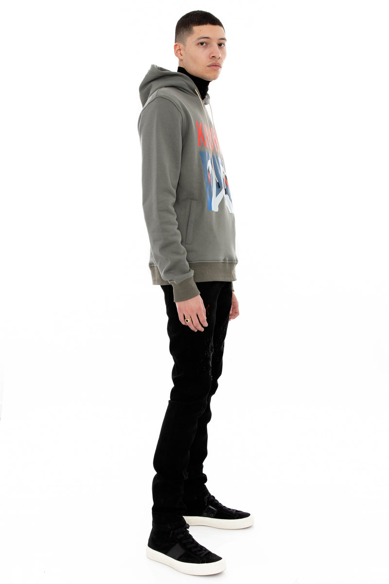 WELL KNOWN The Known Swan Hoody - Grey Flannel