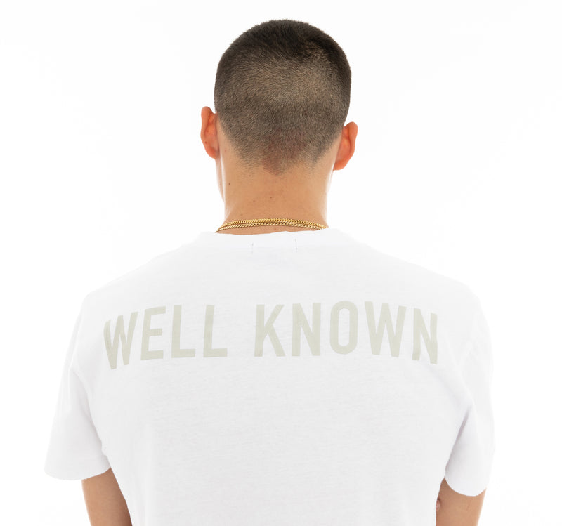 WELL KNOWN The Heavenly Muted Tee - White