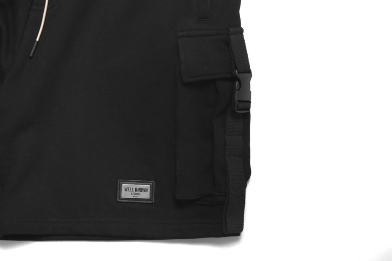 The Essex Cargo Shorts - Black