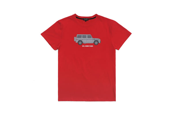 The Wk Wagon Tee - True Red