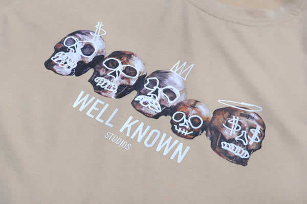 WELL KNOWN The Cranium Tee - Crème Brule