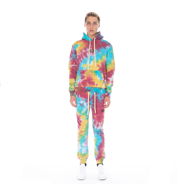 Well Known Studios Houston Hoodie - Multi Tie Dye