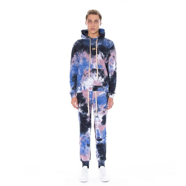 Well Known Studios Houston Sweatpants - Indigo Tie Dye