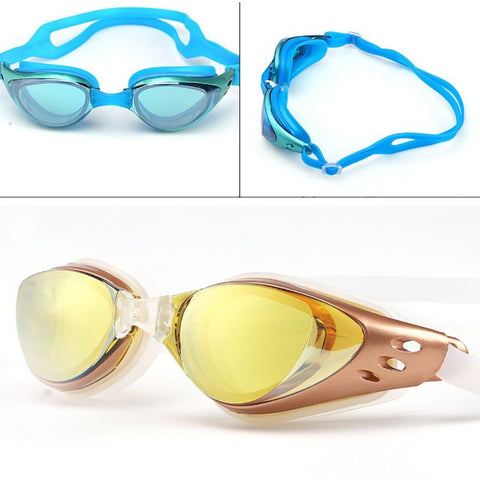 Adjustable Waterproof Anti Fog UV Protection Adults Professional Colored Lenses Diving Swimming Glasses Eyewear Swim goggles