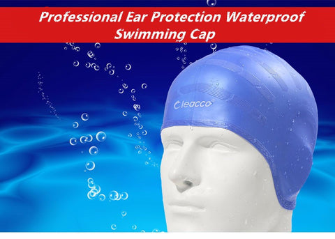 Adults Waterproof swimming caps badmuts silicone swimming hat man women high spandex large size candy colors swimming wear hat