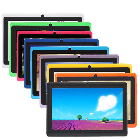 IRULU Q88 7 Inch Android 4.4 Tablet PC ALLwinner A33 Quade Core Tablet Dual Camera 8GB 512MB
