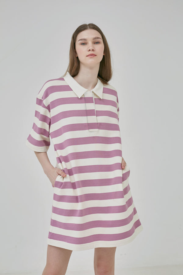 Orchid Stripes Tunic - Argyle Oxford - hglhouse