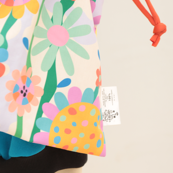 Drawstring Totebag Sunflowers - Smitten by Pattern