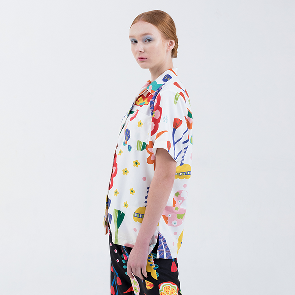 Kyoto Shirt White - Nadjani x Chiel - hglhouse