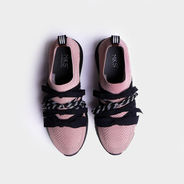 Bow Sneakers Pink - Mks Shoes