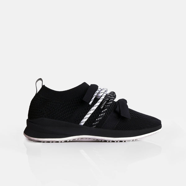 Bow Sneakers Black - Mks Shoes