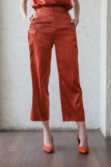 Xu Pants In Dark Persimmon - Maven - hglhouse
