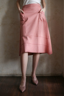 Landon Raw Salmon Skirt - Maven - hglhouse