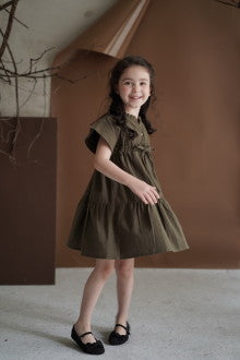 Mini Paula Dress Olive - Maven Kids - hglhouse