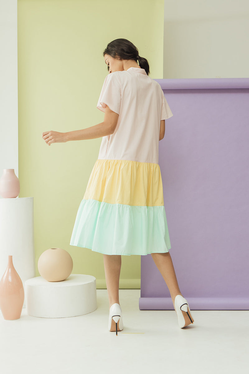 Pastel Shortcake Dress Pink - Impromptu