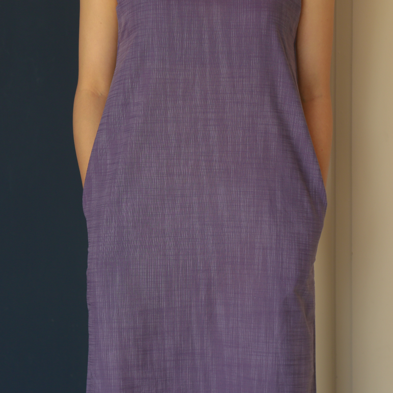 Purple Cotton Paper Dress - Tees And Scissors