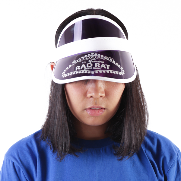 Vegas Visor Hat Purple - Rad Rat