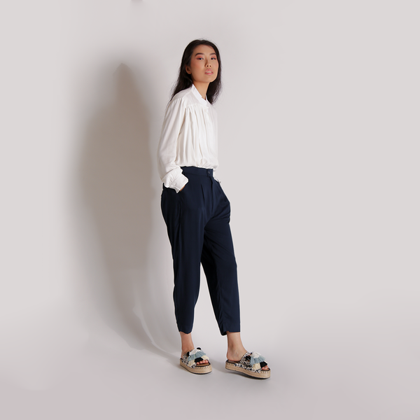 Chako Pants Navy - Amita House