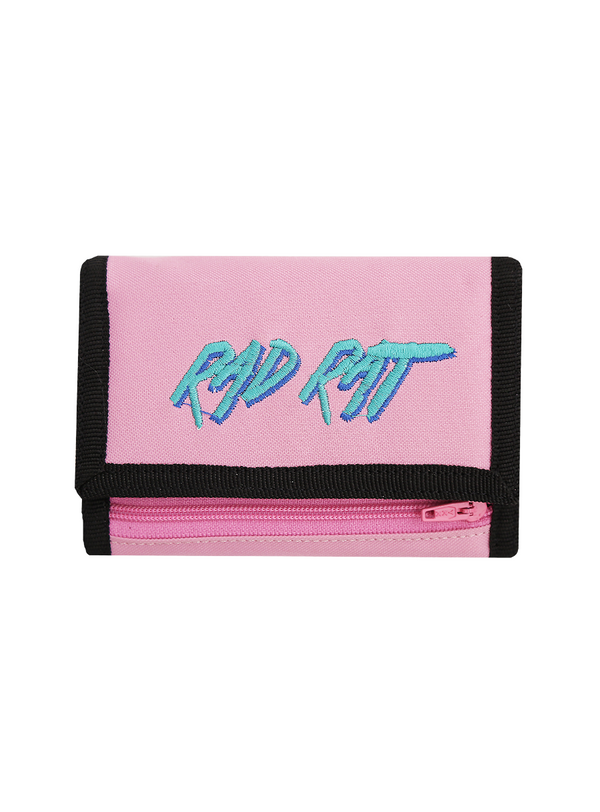 Rad Rat Logo Velcro Wallet Pink - Rad Rat