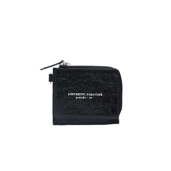 GAUSS LANYARD CARDWALLET CROC BLACK - AESTHETIC PLEASURE