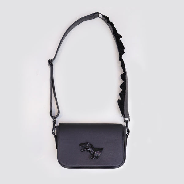 DINO FLAP BAG BLACK - MANNEQUIN PLASTIC - hglhouse
