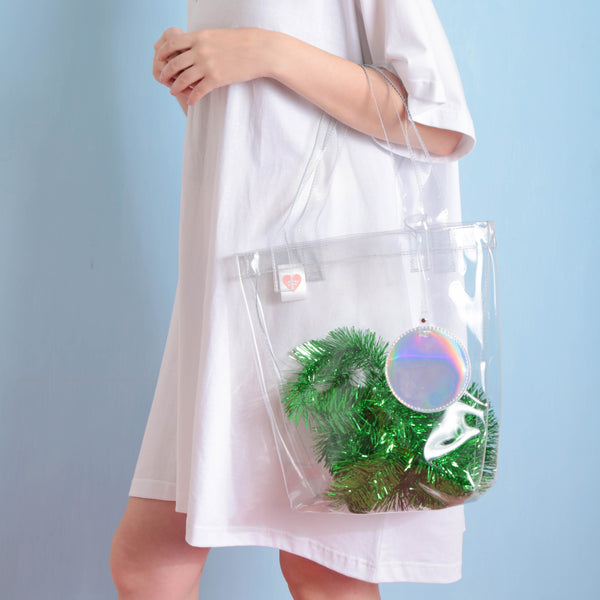 Daily Dazzling Tote Clear - Curated Crush