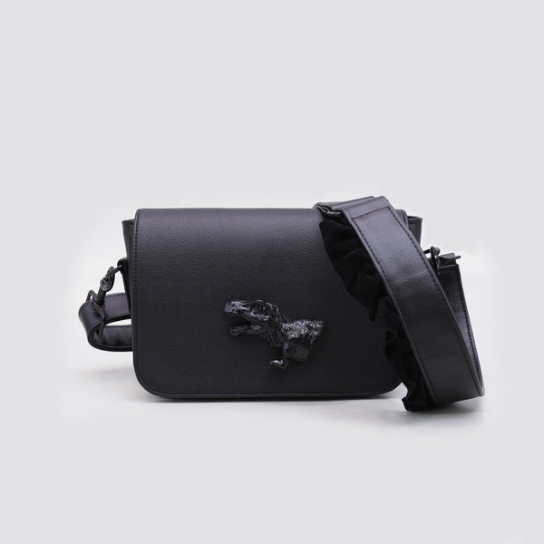 DINO FLAP BAG BLACK - MANNEQUIN PLASTIC