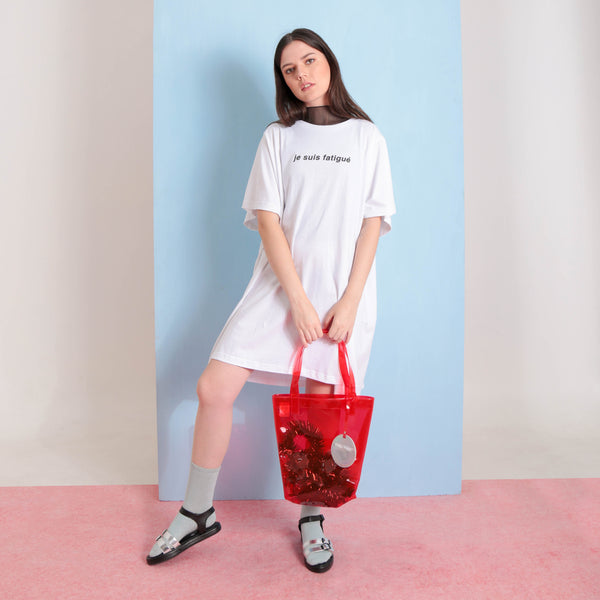 Daily Dazzling Totebag Red - Curated Crush