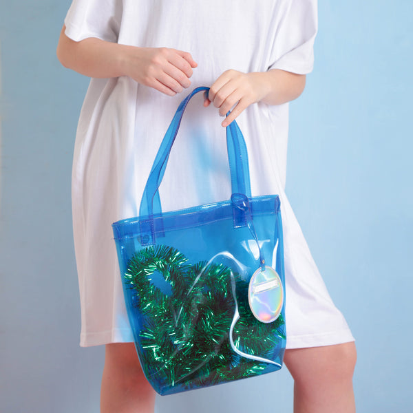 Daily Dazzling Tote Blue - Curated Crush
