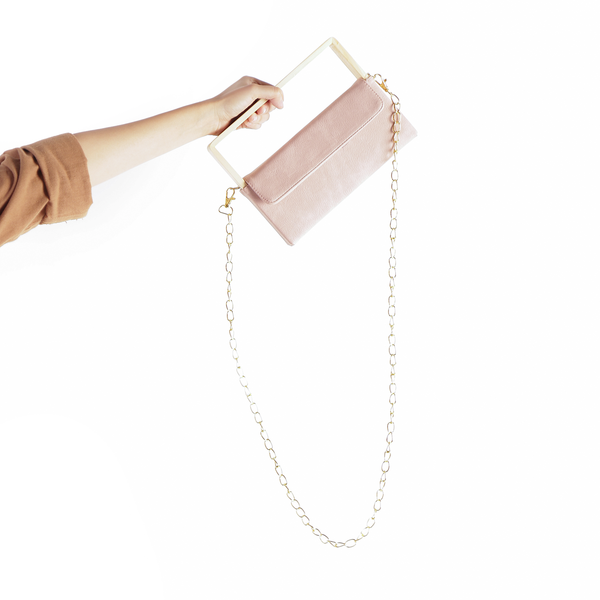Wooden Clutch Bag Pink - Kayane - hglhouse