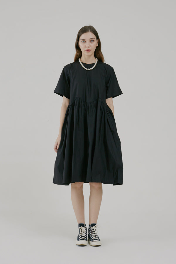 Cotton Wave In Dress Black - Argyle Oxford