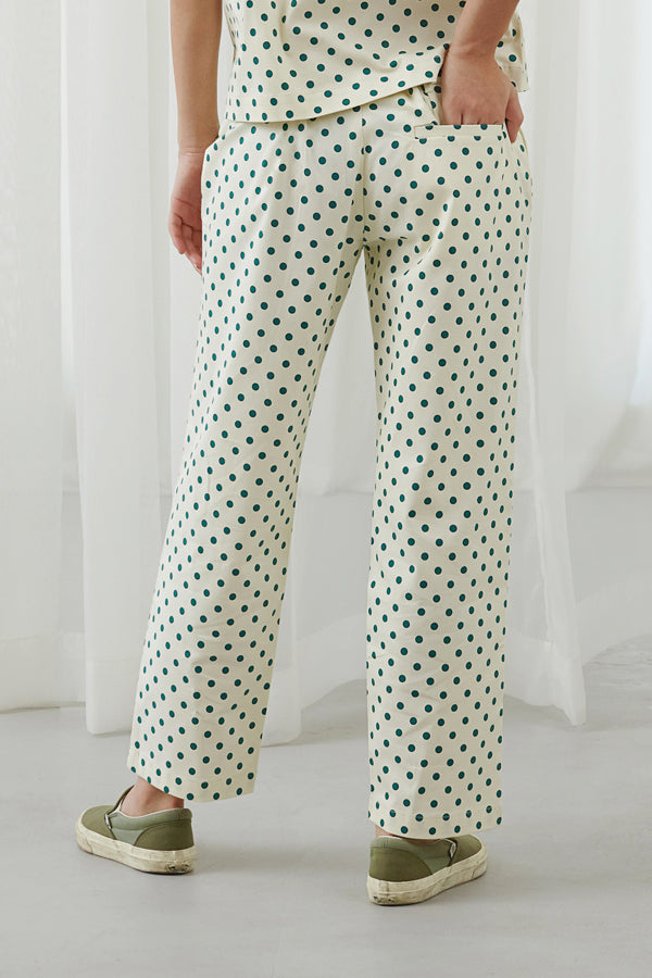 POLKADOT SIGNATURE CUT TROUSERS - ARGYLE OXFORD - hglhouse