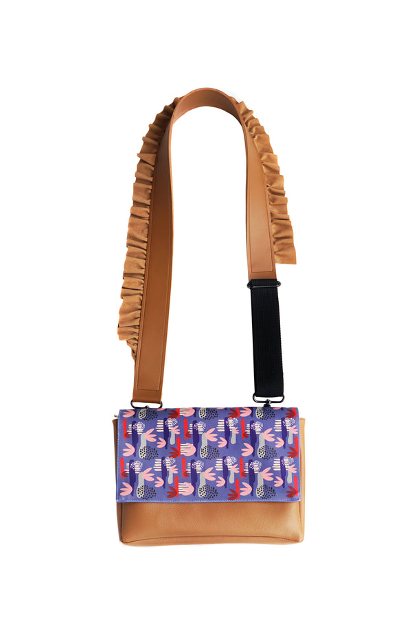 Color Flower Flap Bag Choco Blue - Mannequin Plastic - hglhouse