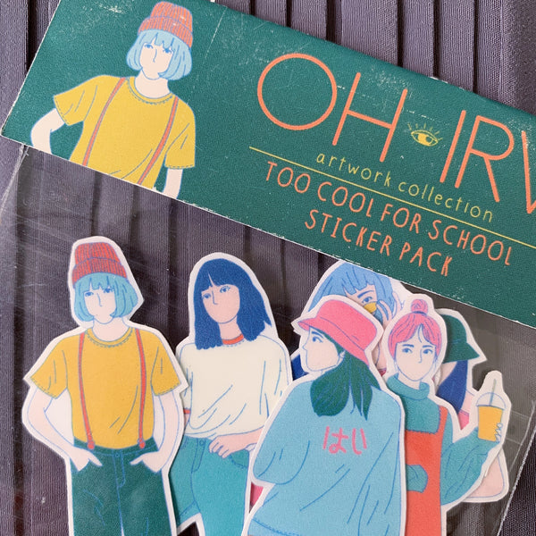 Too Cool For School Sticker Pack - Oh.Irv
