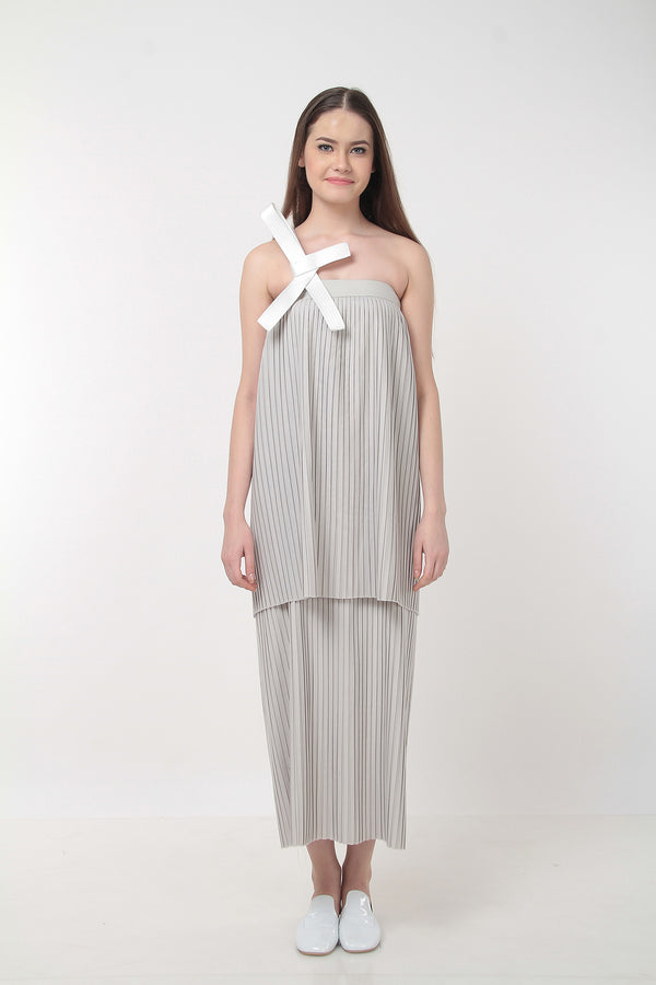 Gracie Dress 2 Tire Grey - Soe Jakarta